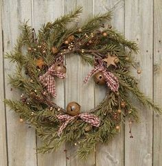Rustic holiday pine wreath