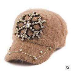 558572a68dea5 Rhinestone Studded Snowflake Fashion Lady Baseball Cap Autumn And Winter  Warm Women Casual Hat  9.21