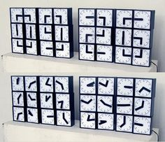 24 horloges analogiques pour donner l'heure digitale