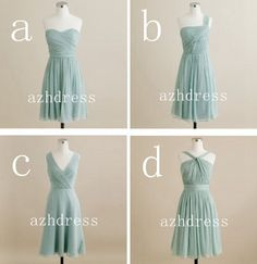 Four Short A-line Sweetheart Chiffon Bridesmaid Dresses 2014 on Etsy,  #A-line #style #moltenocreations #bridesmaids #wedding #wedding inspiration #clothes #elegant #feminine #classy #couture  #bride #bridal #bridalwear Check out my blog on which i explain the different types of wedding designs you can choose from :http://www.moltenocreations.com/index.php?option=com_easyblog&view=entry&id=24&Itemid=256