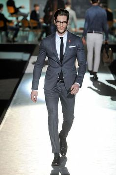 runway fashion suit outfit