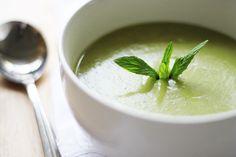 Minty pea and potato soup