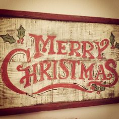 Merry Christmas~hand painted sign