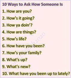 Forum | ________ English Grammar | Fluent Land10 Ways to Ask How Someone Is…