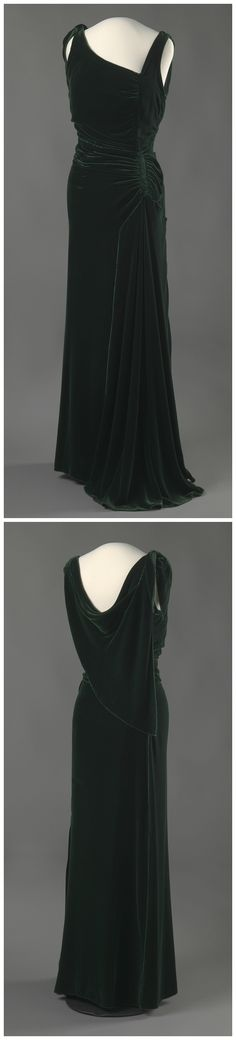 Evening dress belonging to Queen Maud of Norway, c. 1932. The National Museum of Art, Architecture and Design, Oslo, via DigitaltMuseum (link: http://digitaltmuseum.no/011061625596?query=kjole&page=72&pos=1705&count=9767).
