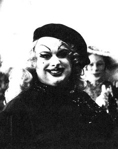 Divine​ at the San Francisco premiere of John Waters' Multiple Maniacs, 1970