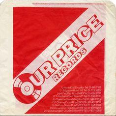 Our Price Records, Croydon, England, 1981.
