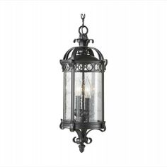 "OL7811BSB - Chancellor 20"" Black Sable 2-Light Outdoor Pendant by Feiss Lighting 259"
