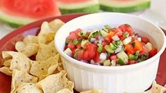 A sweet and spicy watermelon salsa that uses ingredients fresh from your garden.