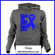 Colon Cancer Awareness HOPE shirts and gifts by www.gifts4awareness.com. #coloncancer #cancerawareness #awareness