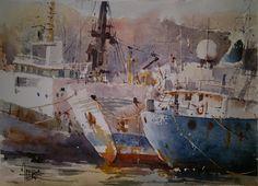 tres barcos oxidados