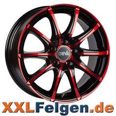 DBV Tropez Red Edition Colourline Alufelgen