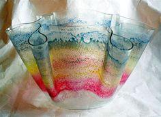 Rainbow by DruryDesignArt on Etsy, glass guild Fused Glass Bowl, Kiln Formed Glass, Wind Chimes, Sconces, Glass Art, Lamps, Perfume Bottles, Porcelain, Bohemian