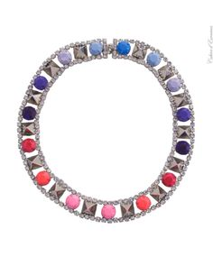 Purple and Pink Stud Necklace - Tom Binns