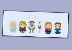 Frozen cross stitch pattern