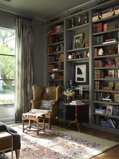 9 Vintage-Inspired Home Libraries to Envy #thehighboystyle More