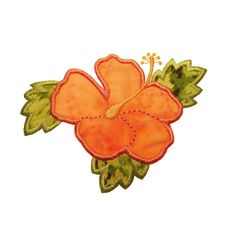 Hibiscus Flower machine embroidery design by Briar Rose Embroidery.