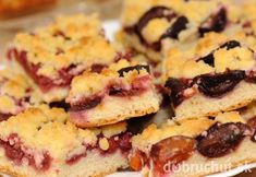 Grandmothers Plum Tart Cake Close-Up