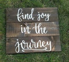 Find Joy In The Journey Slatted Wood Sign by PeachWoodCrafts
