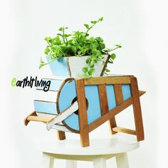 Rustic style Rice polisher Reclaimed wood Plant Pot Planter outdoor green garden #HandmadebyEarthlyLiving