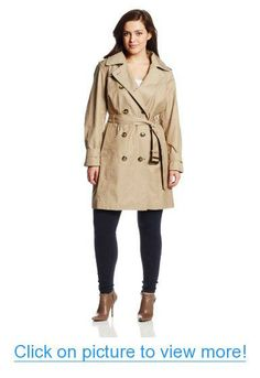 f4d5b8104e0 Amazon.com  London Fog Women s Plus-Size Double Breasted Classic Trench Coat   Clothing