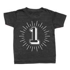 Typographic Number T-Shirt from Whistle & Flute