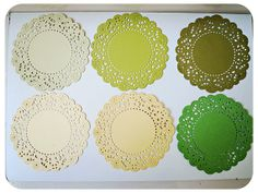 Parisian Lace Doily Green & Yellow for Scrap by MyPaperCrafting, $6.50