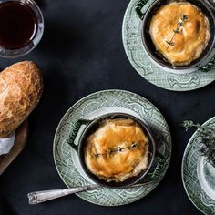 Baked Brie and Mushrooms - An easy dish that combines creamy brie, mushrooms and flaky puff pastry.