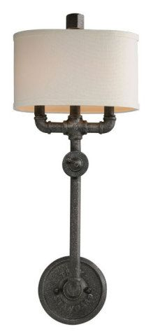 2 LIGHT INDUSTRIAL PIPE WALL SCONCE :: WALL SCONCES :: Ceiling lights Toronto, Bath and vanity lighting, Chandelier lighting, Outdoor lighting and kitchen lights :: Union