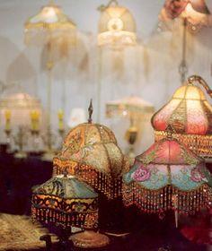 hand-beaded lamp shades