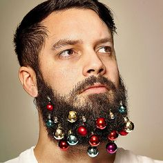 Beard Baubles Will Turn Your Beard Into A Christmas Tree. #boredpanda