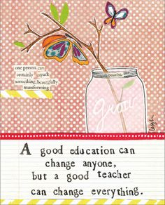 Send Love and inspiration with our good teacher card