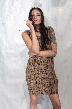 Vintage Leopard Print Mini Dress by castawayvintage on Etsy, $24.00