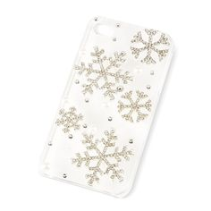 Holiday Crystal Snowflake and Pearl Clear Cover for iPhone 4 and 4s | Claire's