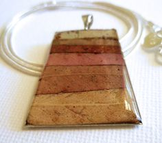 Pendant, necklace, resin, mosaic, Australian, unique