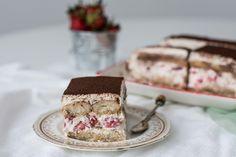 Tiramisu cu capsuni - tiramisu fara ou Tiramisu, Ethnic Recipes, Tiramisu Cake