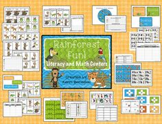 """Rainforest Fun"" Literacy & Math Center"