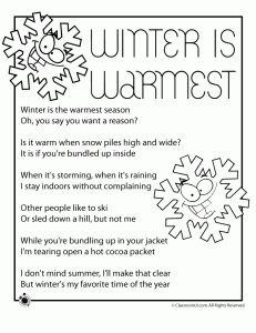 printable winter poems 231x300 Winter Kids Poems