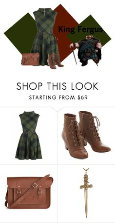 """""""King Fergus"""" by disneydressing ❤ liked on Polyvore featuring Disney, But Another Innocent Tale, The Cambridge Satchel Company and Jennifer Fisher"""