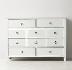 RH TEEN's Bryn Wide Dresser & Jewelry Topper Set:Our collection is timeless and versatile – featuring simple lines and pared back styling. A waxed white finish, ring pulls and a multitude of storage options lend it modern sensibility. Teen Dresser, Wide Dresser, Dressers, Condo Bedroom, Beach House Bedroom, Teen Bedroom, Master Bedroom, Dix Blue, New Palace