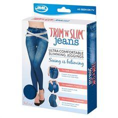 Trim 'N' Slim Jeans: Comfortable Slimming Shapewear Jeggings Tv Shopping, Slim Jeans, Body Shapes, Shapewear, Jeggings, Health And Beauty, Push Up, Skinny, Stylish
