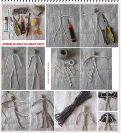 Como hacer Muñecas Fashion de Cables Viejos - enrHedando