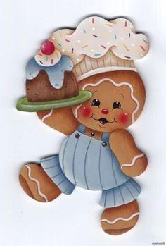 imagenes de galletas navideñas para pintar - Buscar con Google