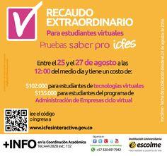 @Escolmeeduco ¡Estudiante virtual se aproxima el Recaudo Extraordinario para las pruebas saber pro!