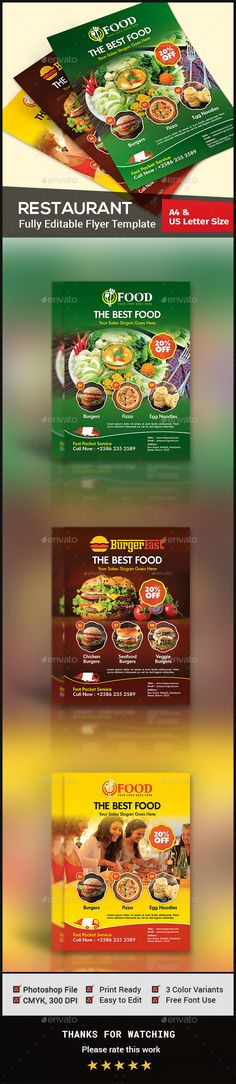 Restaurant Flyer by Creative-Touch Restaurant Flyer Template is perfectly suitable for promoting your Business. You can also use this template in multipurpose advert Pizza Flyer, Menu Flyer, Party Flyer, Pizza Pizza, Restaurant Menu Template, Restaurant Flyer, Print Templates, Card Templates, Letter Templates