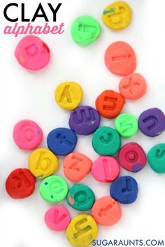 Make clay letters wi