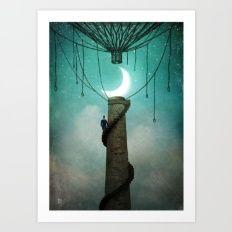 Enter the Sky Art Print