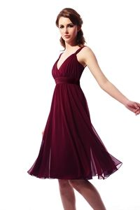 Knee Length Bridesmaid Dresses, Short Chiffon Bridesmaid Dresses   $98.00