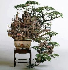 the perfect indoor fairy house! I've seen this in person - it is SOOO super awesome! the details, it's just amazing!