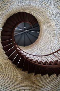 Brick wall with a spiral staircase - gorgeous design Stairs And Staircase, Take The Stairs, Grand Staircase, Staircase Design, Spiral Staircases, Beautiful Architecture, Architecture Details, Gothic Architecture, Beautiful Stairs